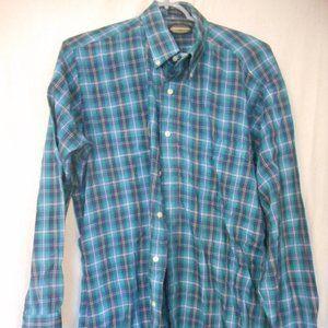 Vintage Towncraft Size L Blue Plaid shirt